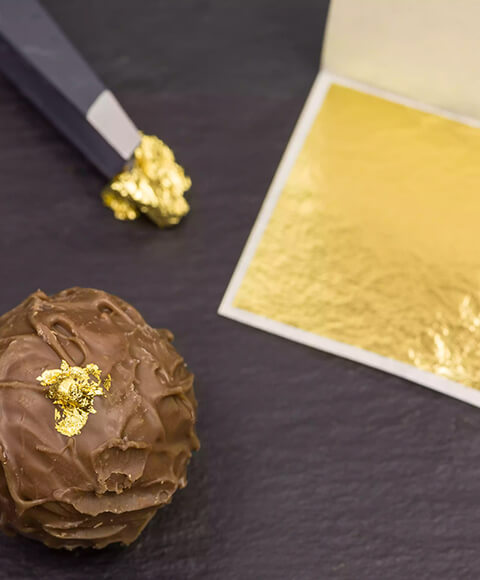 24K feuille d'or comestible